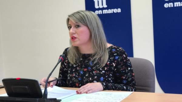 Carmen Santos, diputada de En Marea y exlíder de Podemos