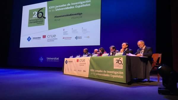 Acto inaugural Jornadas de Investigación de Universidades Españolas