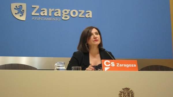Sara Fernández este jueves en el Ayuntamiento.