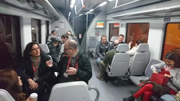 Tren de cercanías negocios emprendedores empresarios diputación málaga guadalhor