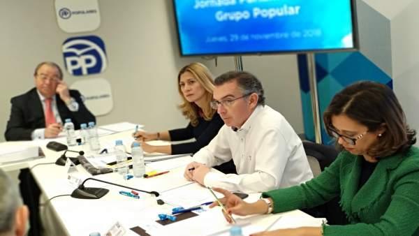 Beamonte ha presidido la reunión del Grupo Parlamentario del PP Aragón.