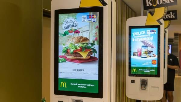 Máquinas táctiles de McDonald's para pedir comida