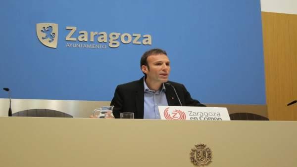 Pablo Muñoz (ZEC) este jueves en el Ayuntamiento.