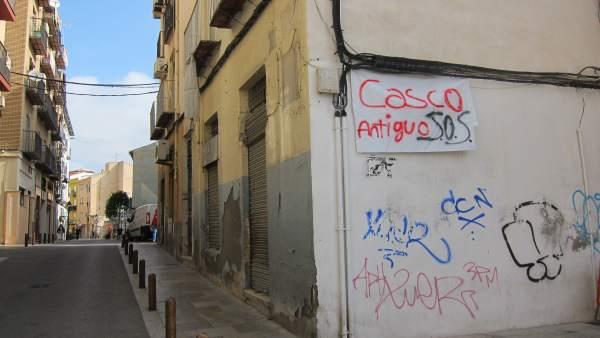 Imagen de archivo de una calle del casco antiguo de Jaén.