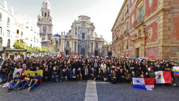 Parte de los alumnos internacionales que se forman este año en la UCAM