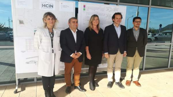 Pons (conseller Energía), Gómez (consellera Salud) y Moreno (alcalde Inca)