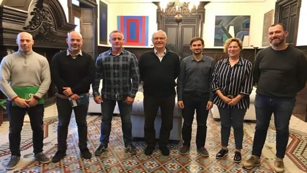 Reunión entre Ayuntamiento de València y sindicatos de Policía Local