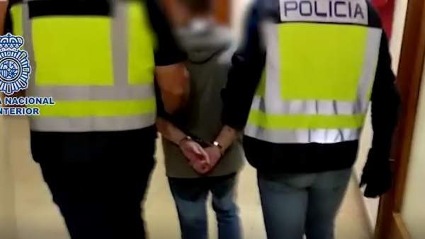 Imágenes de la detención en Zaragoza de César Román Virueta