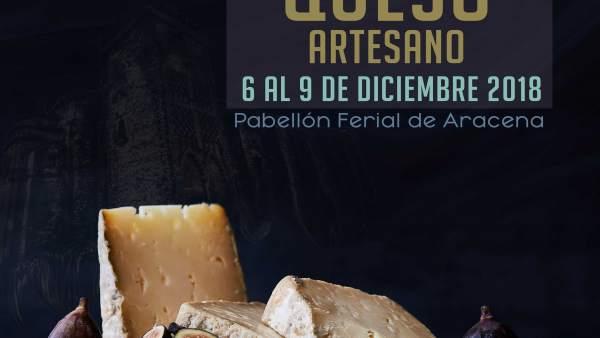 Cartel del Mercado del Queso Artesano de Aracena.
