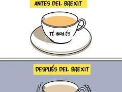 El Brexit perjudicará la economía del Reino Unido, viñeta de Malagón.