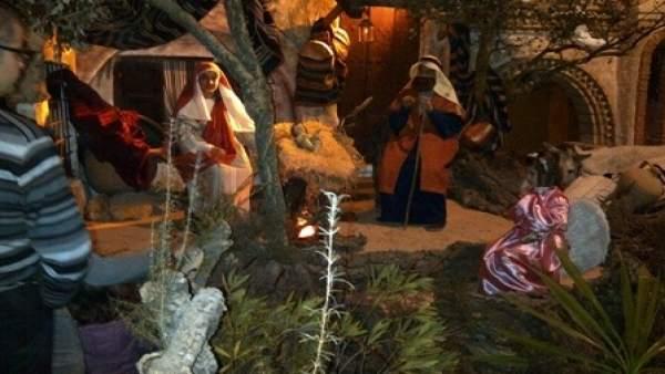 Imagen de una escena del Belén Viviente de Beas (Huelva)