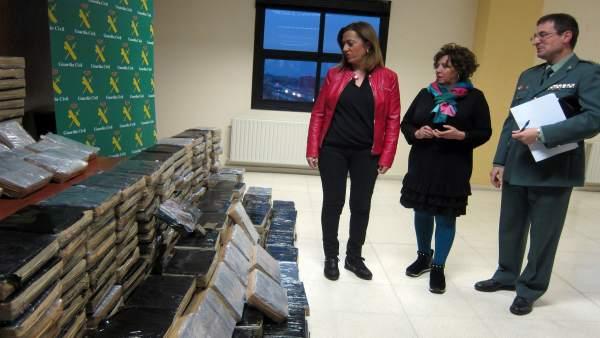 Hachís intervenido en Salamanca por la Guardia Civil.