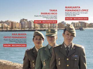 Julio - Tres militares de la Brigada 'Rey Alfonso XIII'