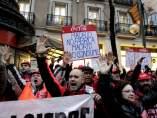 Protesta de trabajadores de Coca-Cola