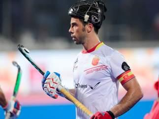 Miki Delàs, capitán de la selección de hockey