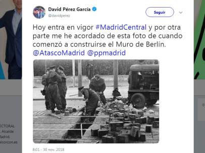 Tuit de David Pérez