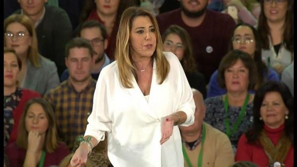 Susana Díaz, durante un mitin