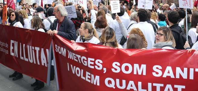 Huelga de médicos de la concertada de Cataluña.