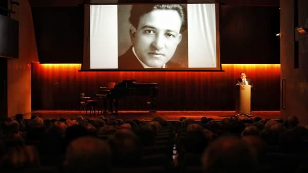 Conferencia en el acto de homenaje a Miguel Fleta.