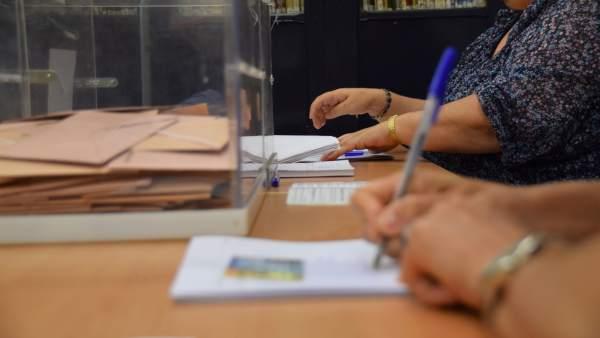 Un colegio electoral en Andalucía