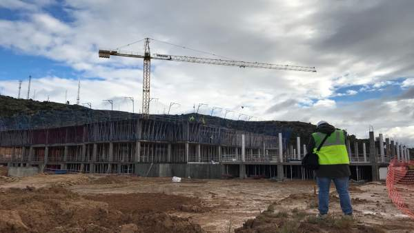 Obras del Hospital de Alcañiz.