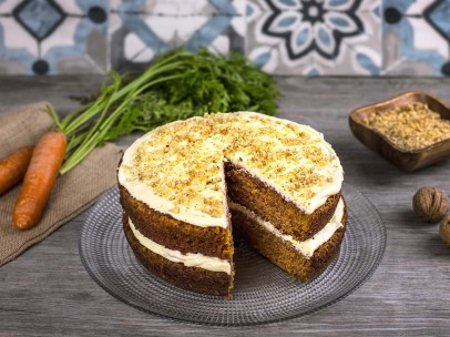 Tarta de zanahoria y chocolate - carrot cake