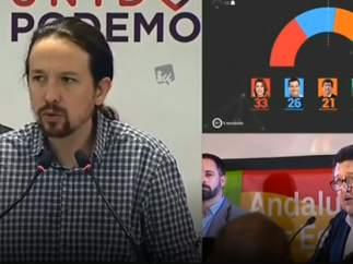 Pablo Iglesias comparece tras conocerse los resultados de las elecciones autonómicas