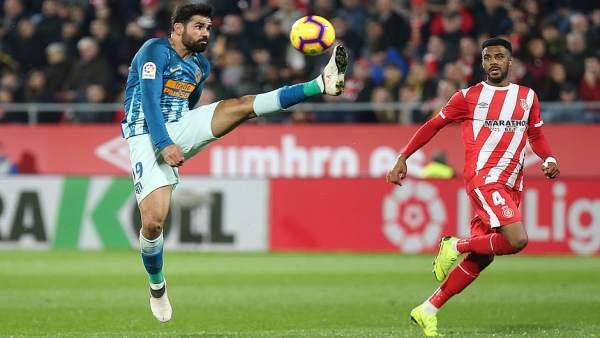 Diego Costa en el Girona - Atlético Madrid