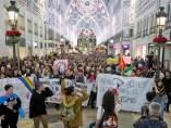 Manifestación contra Vox en Málaga