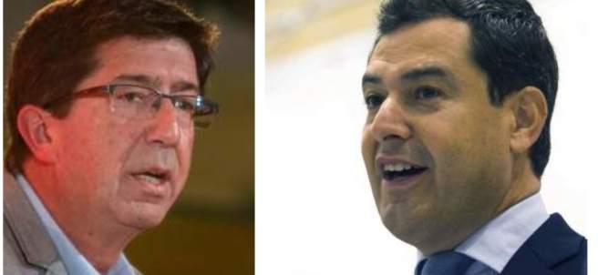 Juan Marín y Juan Manuel Moreno