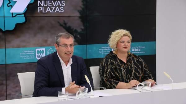 Markel Olano y Maite Peña