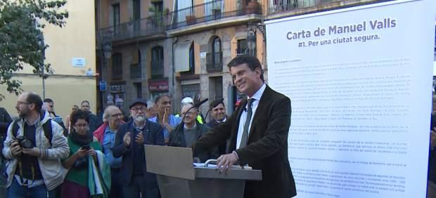 Escrache a Manuel Valls en Barcelona