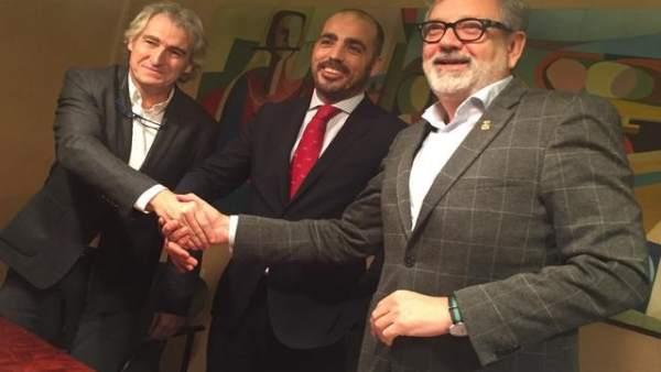 Representantes de Eurofund con el alcalde de Lleida