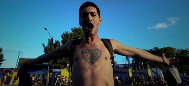 Un aficionado de Boca Juniors