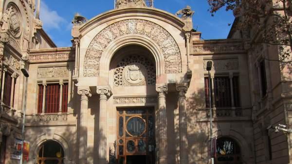 Fachada del Palau de Justícia, sede del TSJC y de la Audiencia de Barcelona.