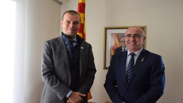 Josep Maria Cruset (Puerto de Tarragona) y Òscar Peris