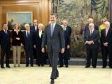 El rey Felipe VI en un acto conmemorativo del 40º aniversario de la Constitución