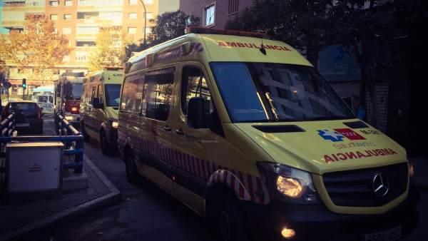 Accidente laboral en Madrid.