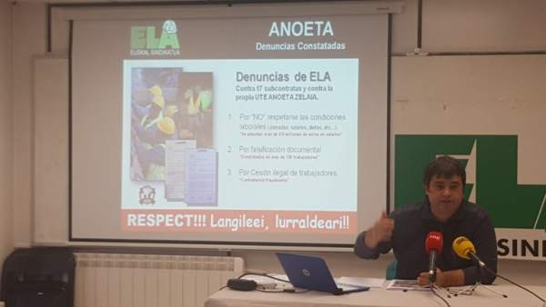 Rueda de prensa de ELA.