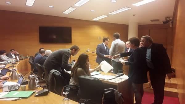 Debate de la ley de acompañamiento en Les Corts