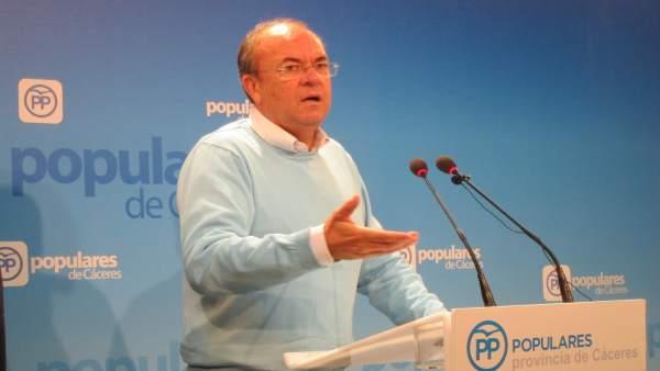 José Antonio Monago, presidente del PP en Extremadura, en una imagen de archivo