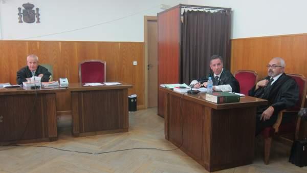 El abogado de Rosa del Valle, Manuel Domínguez, y el fiscal Alfredo Flores.