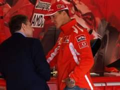 Michael Schumacher vio el GP de Brasil junto a Jean Todt