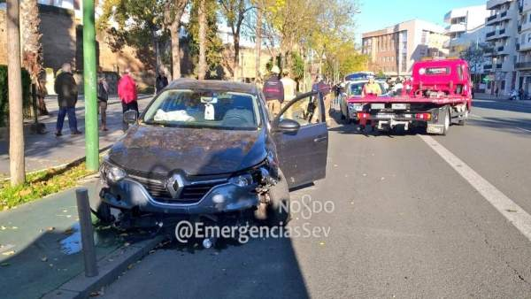 Accidente en Muñoz León, en Sevilla