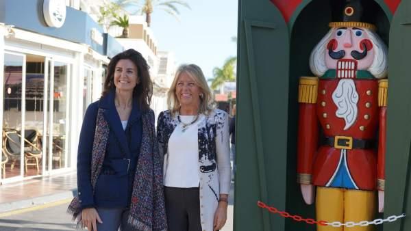 La alcaldesa de Marbella, Ángeles Muñoz en Puerto Banús