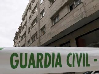 Una mujer herida por su pareja, que se atrincheró en su vivienda de O'Grove