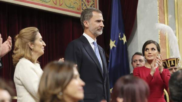 El rey Felipe VI, junto a la reina Letizia
