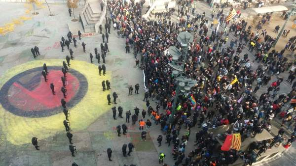 Manifestación por la Constitución en Girona