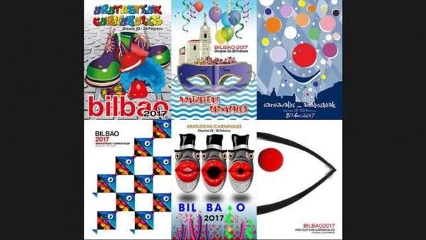 Carteles de carnavales de Bilbao (Archivo)