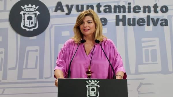 La viceportavoz del PP en el Ayuntamiento de Huelva, Berta Centeno